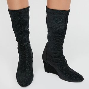 new FREE PEOPLE: Seville Wedge Boot Green 39 Euro